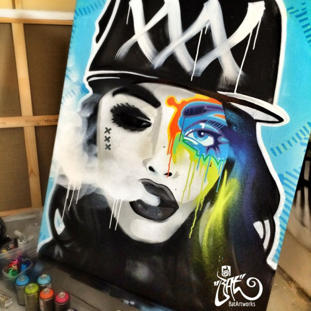 Urban Artwork 'Mokum's Badass'