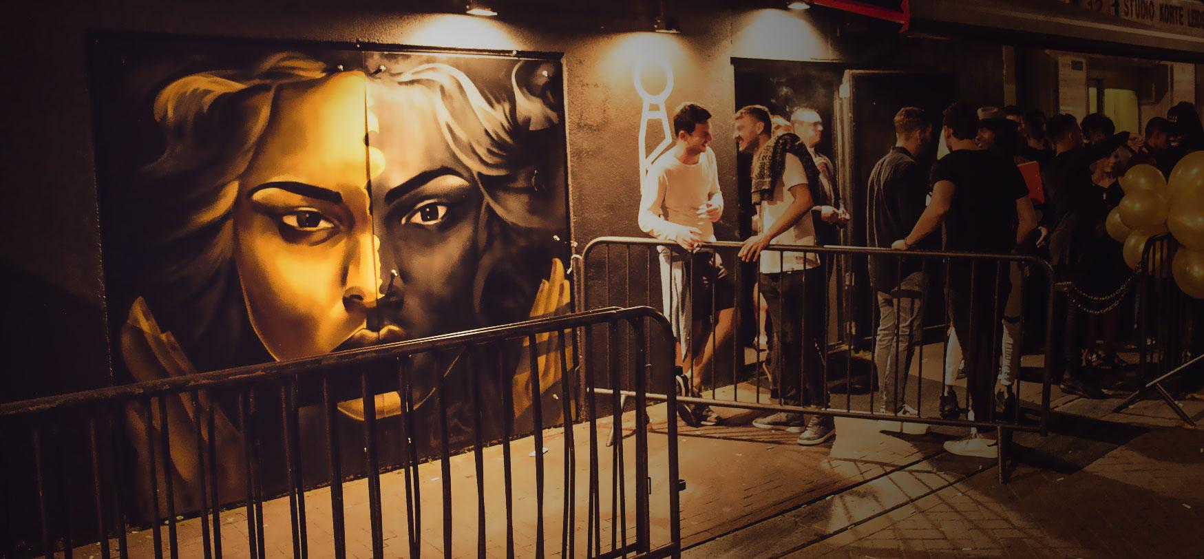 Graffiti walls club oaK Amsterdam BatArtworks
