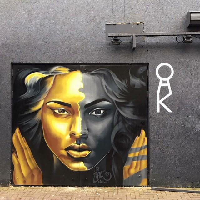 Urban mural club oaK Amsterdam BatArtworks
